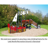 Give A Thumbs Up 👍 to New climbing frame at Lady Neville Recreation Ground #Banstead – your vote is needed by #Banstead Village in Bloom #BVIB @BansteadGuild