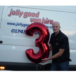 Jolly Good Van Hire in Shrewsbury celebrate 3 year anniversary