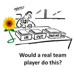 'It's not my job' how often do you hear that from a team player? @sunflowercorp #teambuilding
