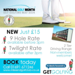 National Golfing Month at Mile End Golf Club