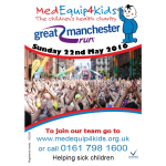 Register for the Great Manchester Run for just £20 with MedEquip4Kids.