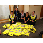 SPECSAVERS OPTICIANS DONATE 180 HIGH-VIZ JACKETS TO ALDERNEY SCHOOL-CHILDREN IN TIME FOR VISIT BY HRH PRINCE ANDREW