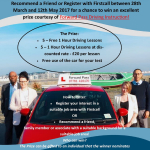 FIRSTCALL COMPETITION TO WIN DRIVING LESSONS WITH FORWARD PASS DRIVING INSTRUCTION