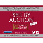 Selling Property by Auction with Town and Country, Oswestry Estate Agents & Auctioneers