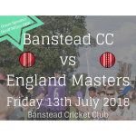 Banstead CC v England Masters – great day to entertain your customers @Banstead_CC
