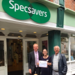 SPECSAVERS OPTICIANS IN MARKET STREET RECEIVE AN AWARD