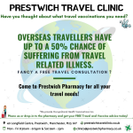 Get holiday ready with Prestwich Pharmacy!