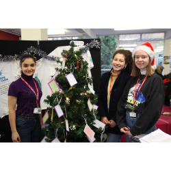 Christmas fundraisers at Richmond upon Thames College for Save the Children and Shooting Star Children's Hospices
