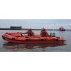 Morecambe's Volunteer RNLI Lifeboat Crew Conduct Night Search On Lune