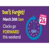 Clocks go Forward this Sunday!!!