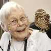 Walks with Hawks join Cheltenham care home residents for a 'twitching' good time