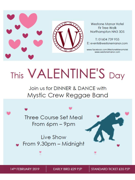 Valentine S Day Dinner Dance With Mystic Crew Reggae Band