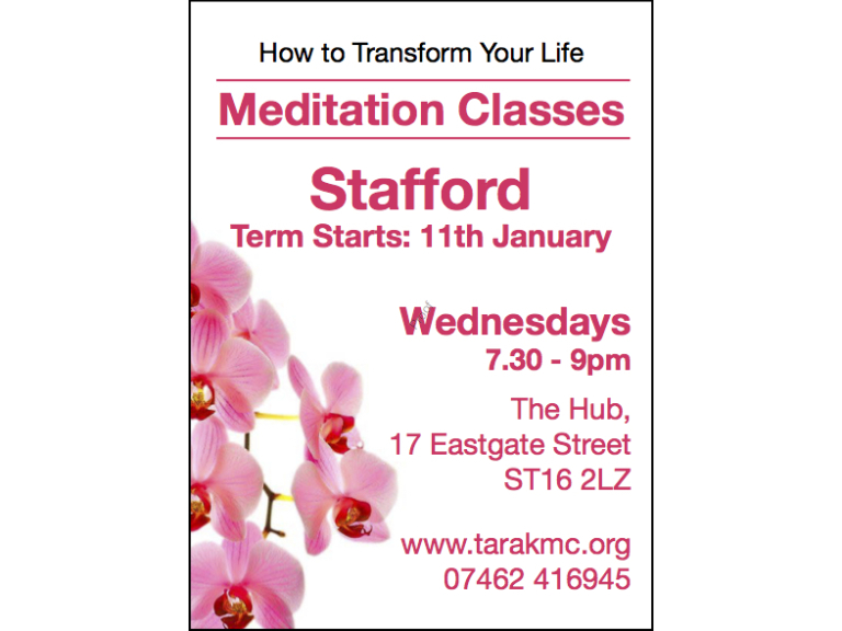 Meditate in Stafford