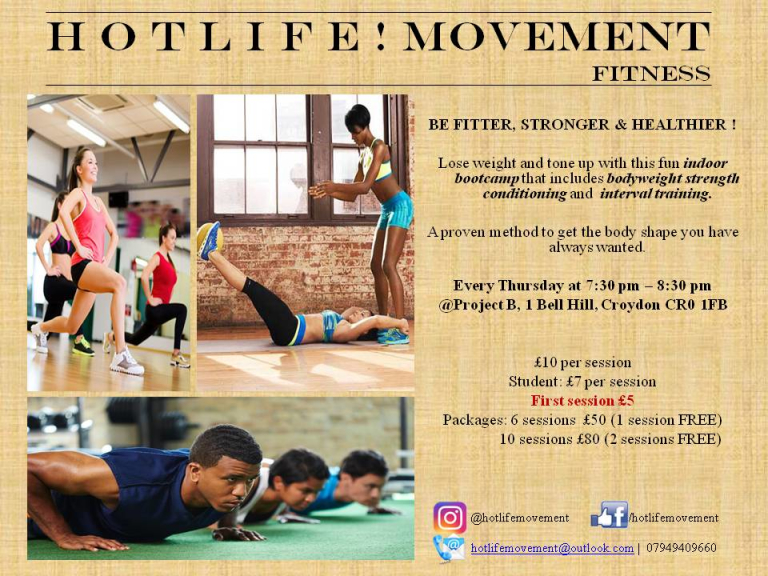 H O T L I F E ! MOVEMENT Indoor Bootcamp