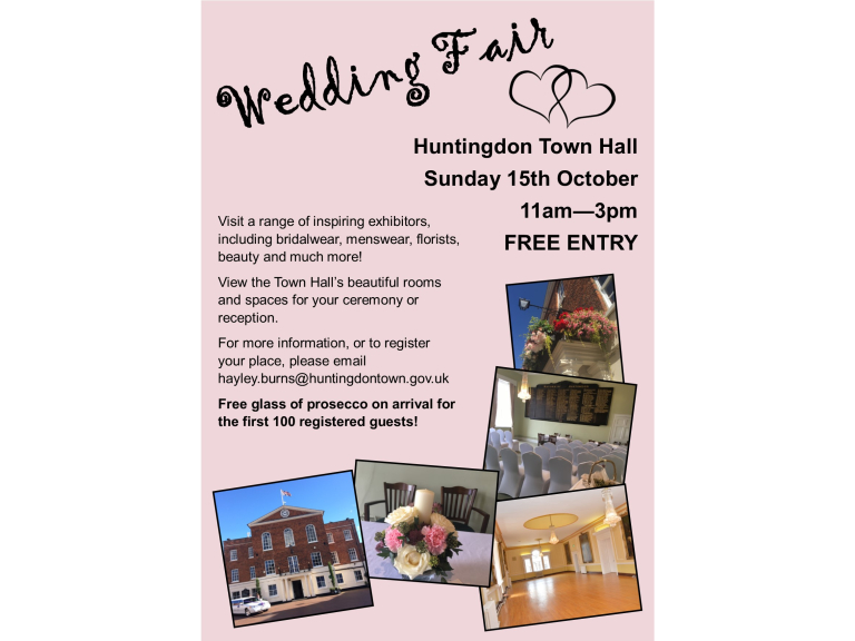 Huntingdon Town Hall Autumn Wedding Fair