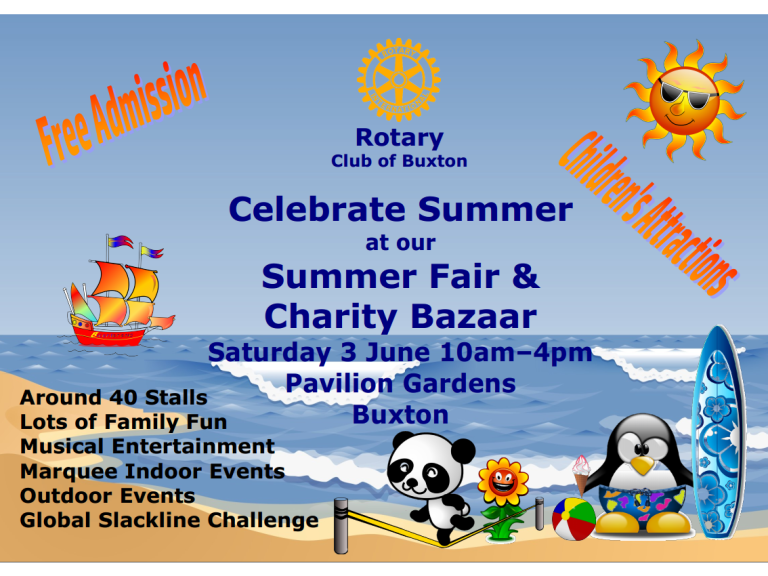 Rotary Club of Buxton Summer Fair & Charity Bazaar