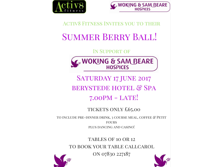Summer Berry Charity Ball at the Berystede!