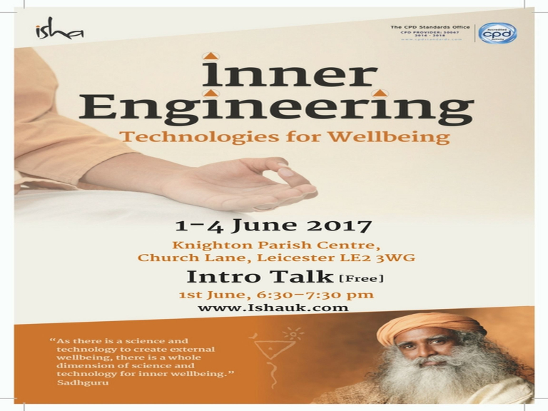 Inner Engineering - Technologies for Wellbeing