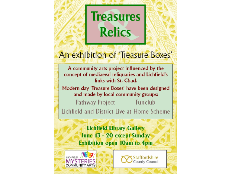 Treasures & Relics Exhibition at Lichfield Library