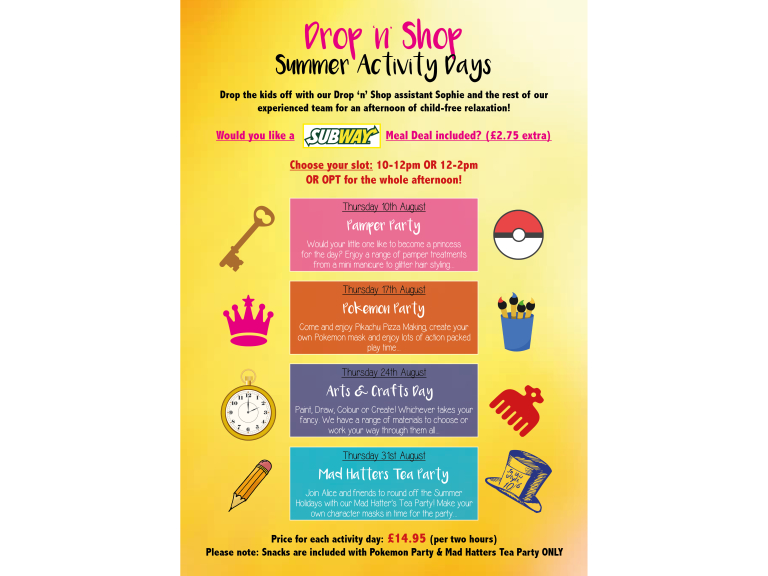 Drop 'n' Shop Activity Days