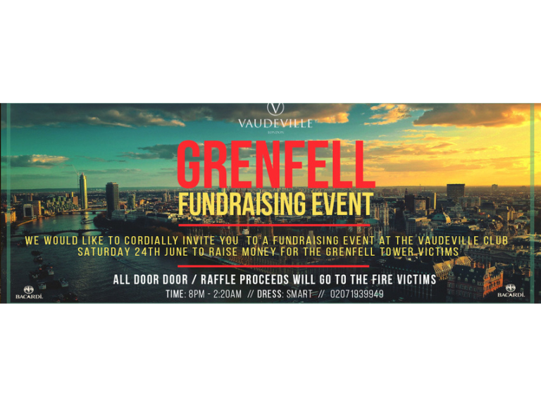 #GRENFELL CHARITY EVENT AT THE VAUDEVILLE CLUB
