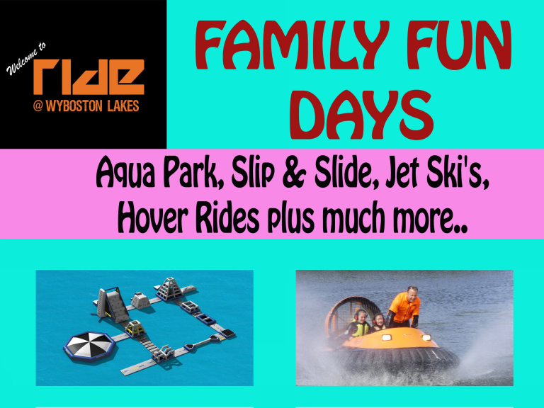 Ride Leisure Family Fun Day St Neots - Monday 7th Aug