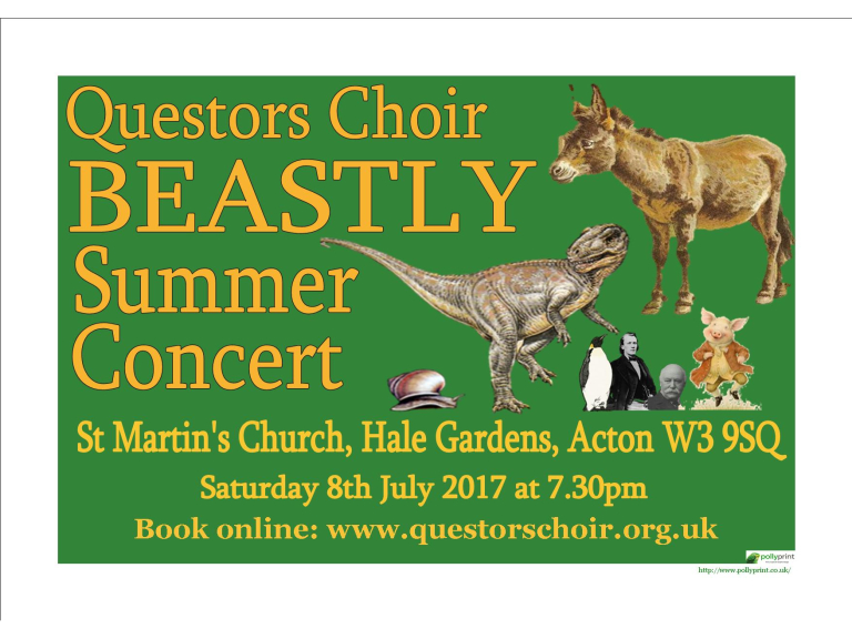 Questors Choir Beastly Summer Concert