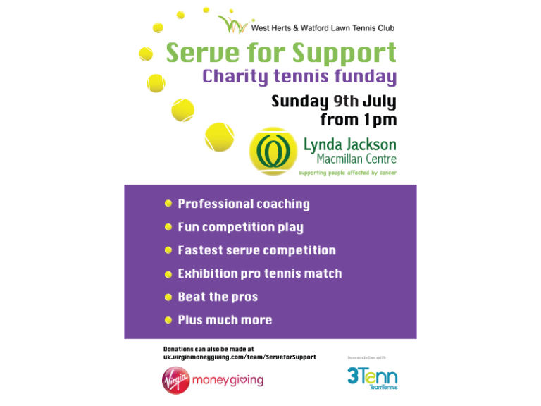 Serve for Support Charity Tennis Fun Day