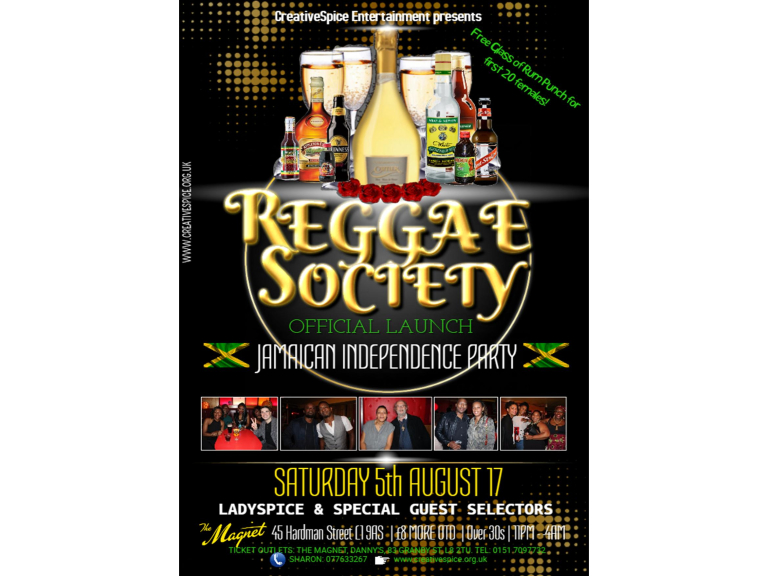 Reggae Society Official Launch Jamaican Independence Party