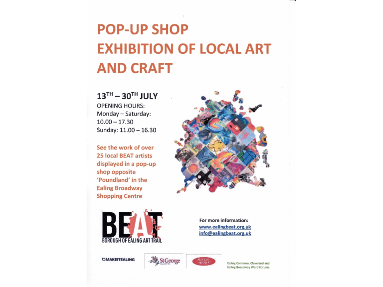 Pop Up Exhibition by Ealing Artists