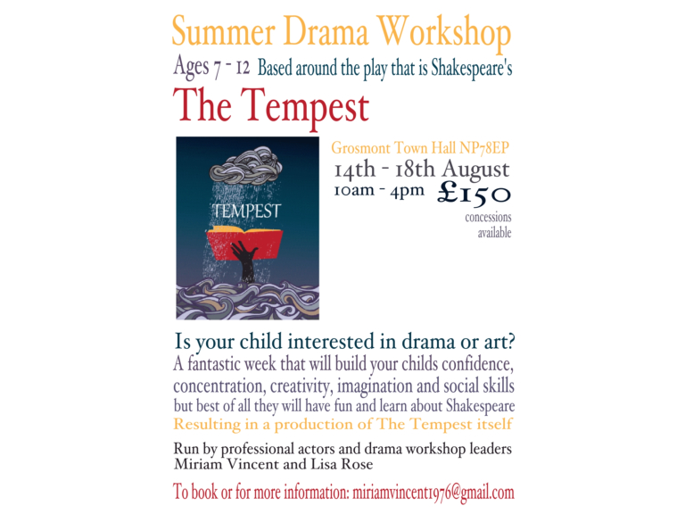 Summer Shakespeare Drama workshop for children
