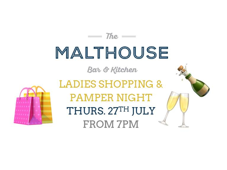 Ladies Shopping & Pamper Night at The Malthouse Bar & Kitchen Stroud
