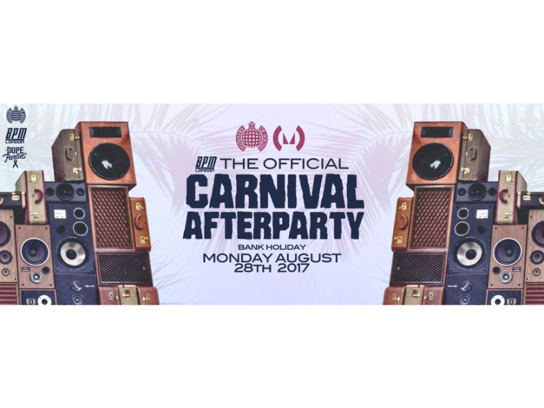 The Official Carnival After Party 2017 - Ministry of Sound