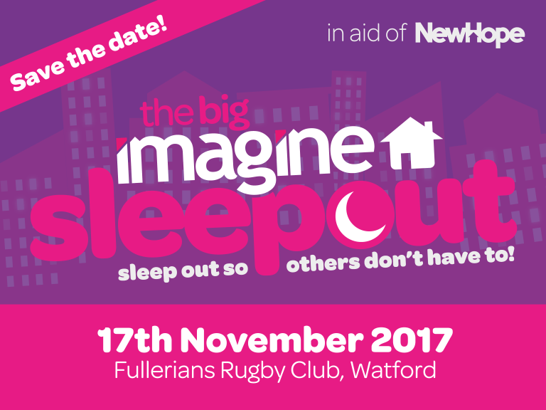 Big Imagine Sleepout, in aid of New Hope