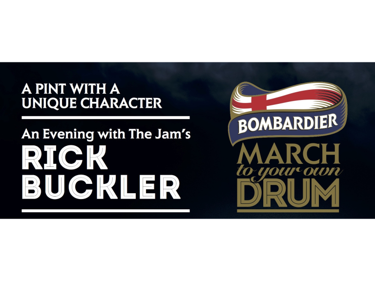 "Bombardier Beer's ""A Pint With A Unique Character"""