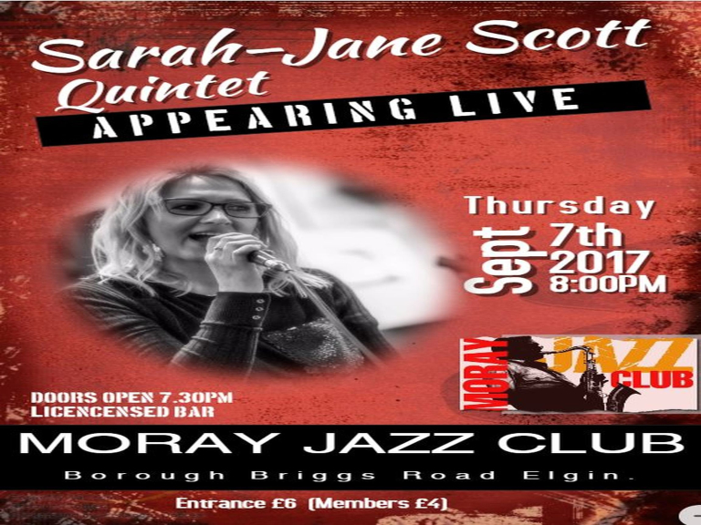 Sarah-Jane Scott Quintet: at Moray Jazz Club