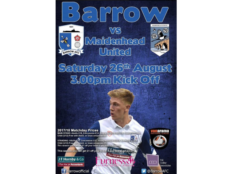 Barrow AFC vs Maidenhead United