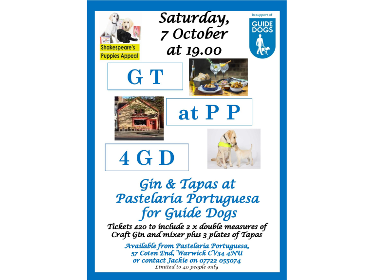 Gin and Tapas for Guide Dogs