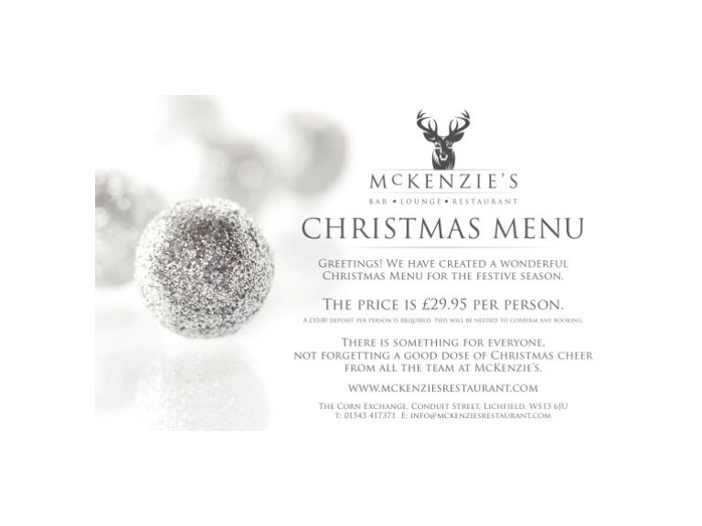Christmas Party Nights with Mckenzie's Lichfield