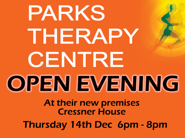 Open Evening - Parks NEW Therapy Centre - Cressner House St Neots