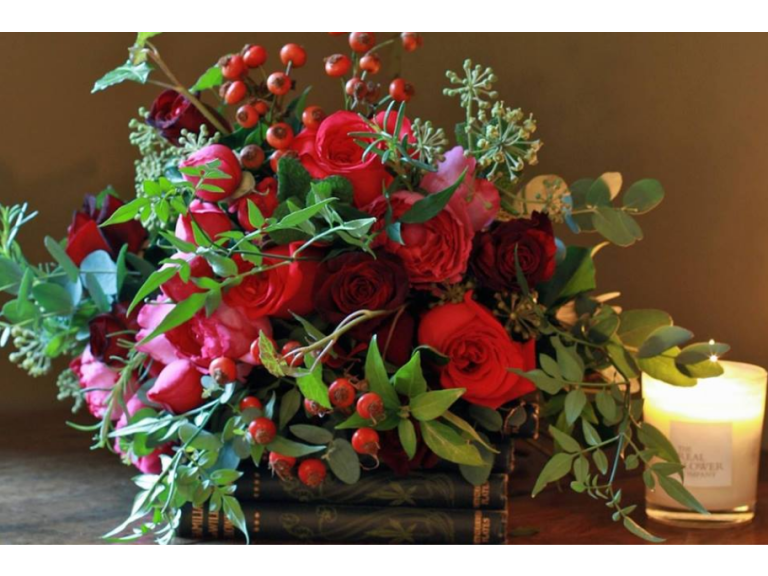 Festive Flower Demonstration with Ros Harrison