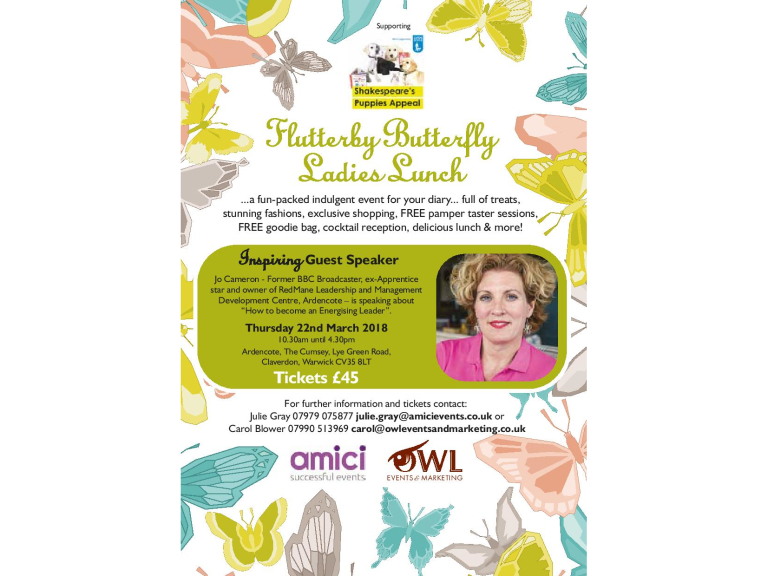 Flutterby Butterfly Ladies Lunch