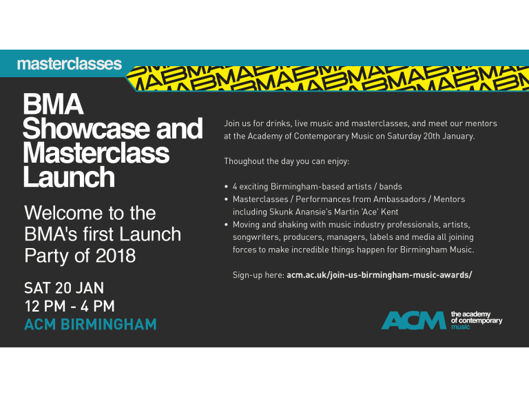 BMA Showcase and Masterclass Launch Party at ACM Birmingham