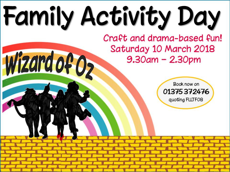 Wizard of Oz Family Activity Craft and Drama Fun Day