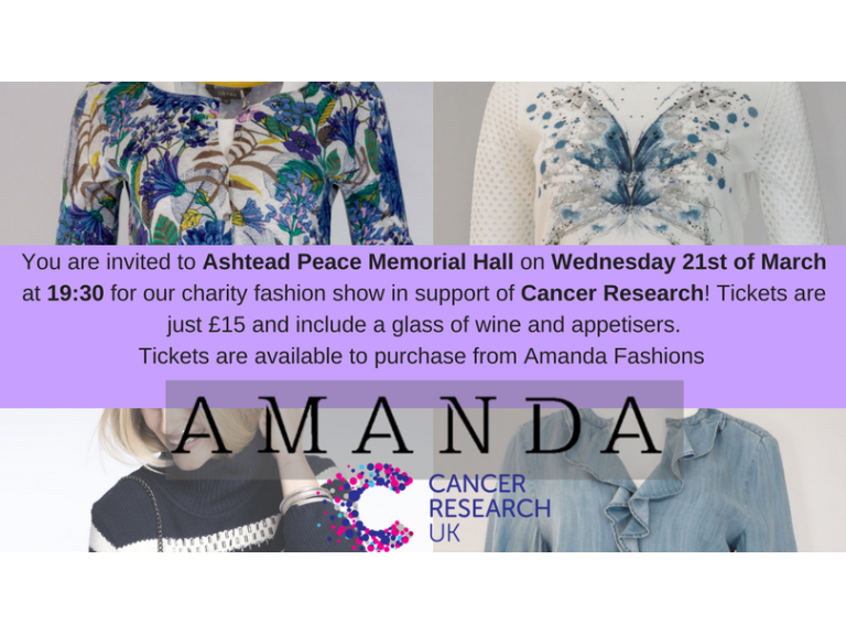 Spring Charity Fashion Show with Amanda Fashions in #Ashtead