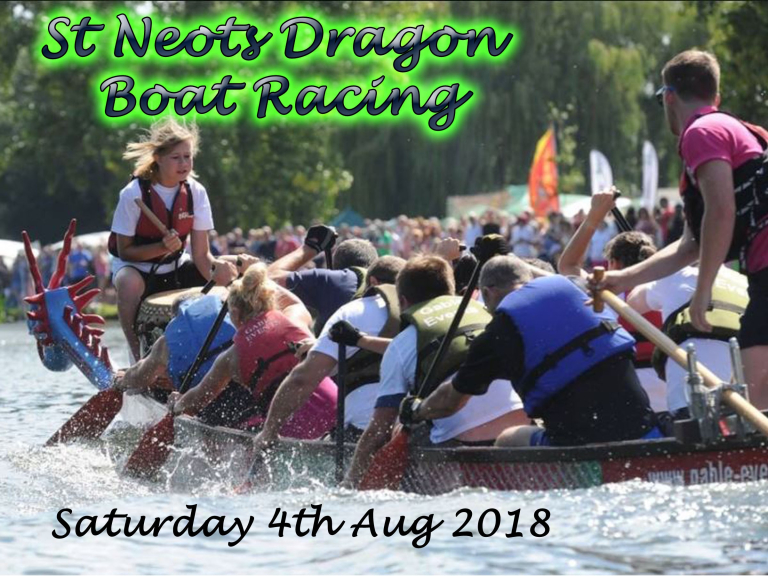 St Neots Charity Dragon Boat Racing 2018