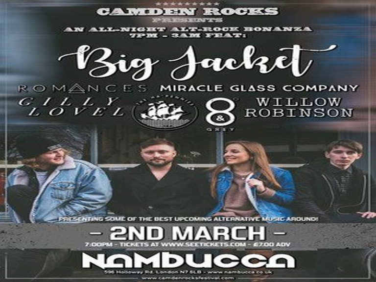 Camden Rocks All-Night'er feat. Big Jacket and more at Nambucca