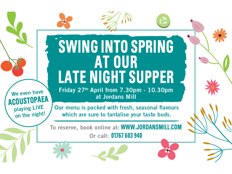 SWING INTO SPRING WITH OUR LATE NIGHT SUPPER