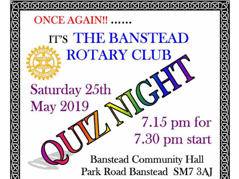 Banstead Rotary Quiz Night with @BansteadRotary