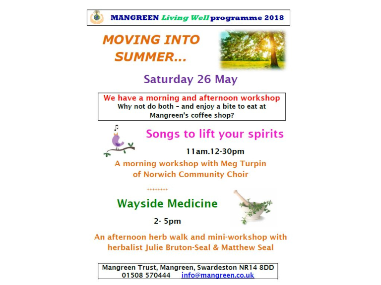 Songs to lift your spirits - singing workshop